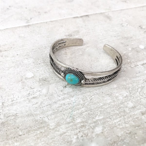 turquoise mortising bangle