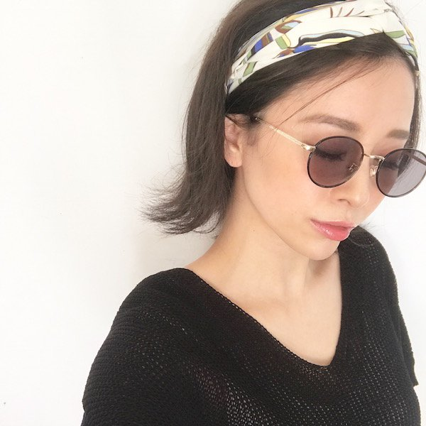 sheer color flame sunglasses