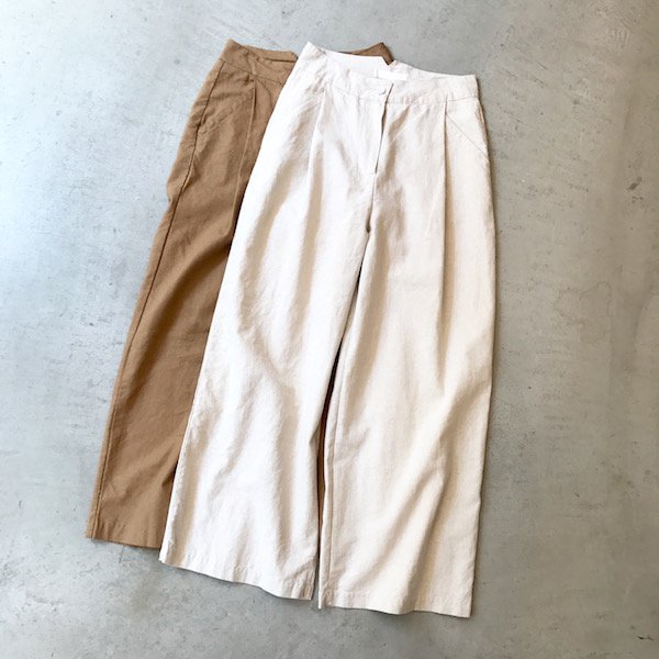 hemp like wide pants