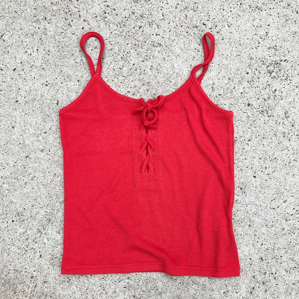 8color lib laceup camisole