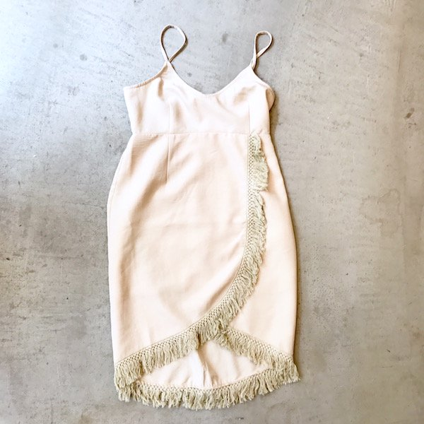 fringe wrap cami one-piece