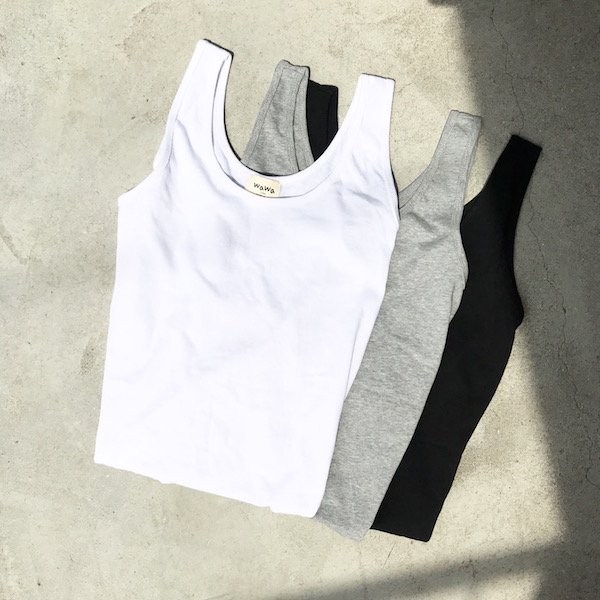 simple cotton long tank top