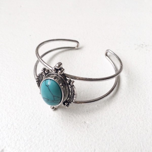 earth turquoise bangle