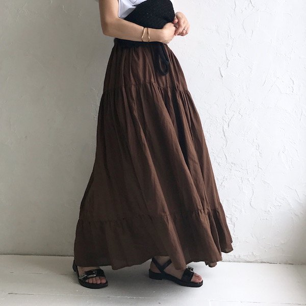 conversion cotton long skirt