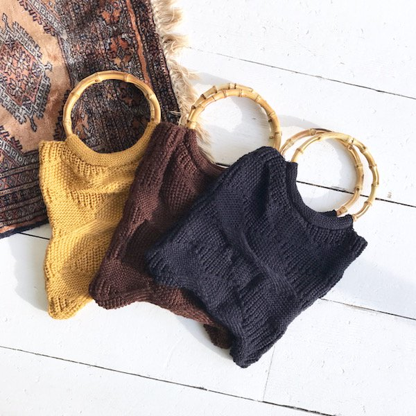knit gauge bamboo BAG