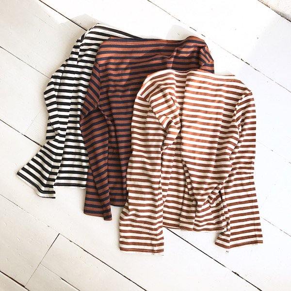 boatneck color border wide tops