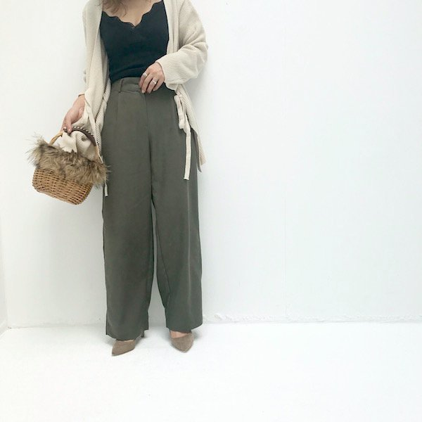 color mellow wide pants