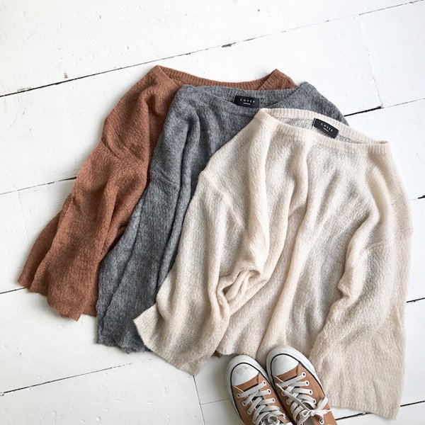 mix sheer color knit