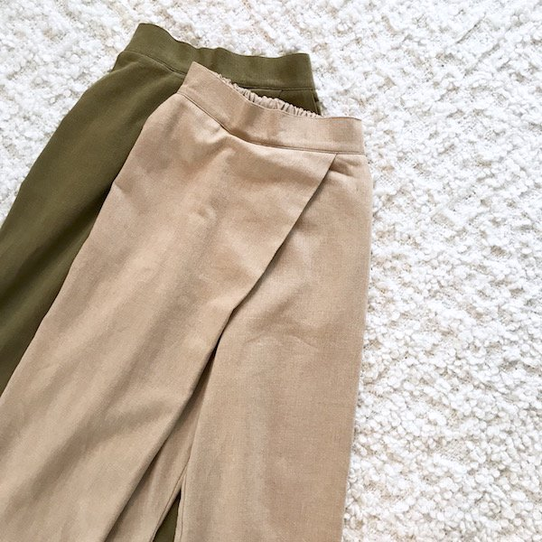 cross open pants