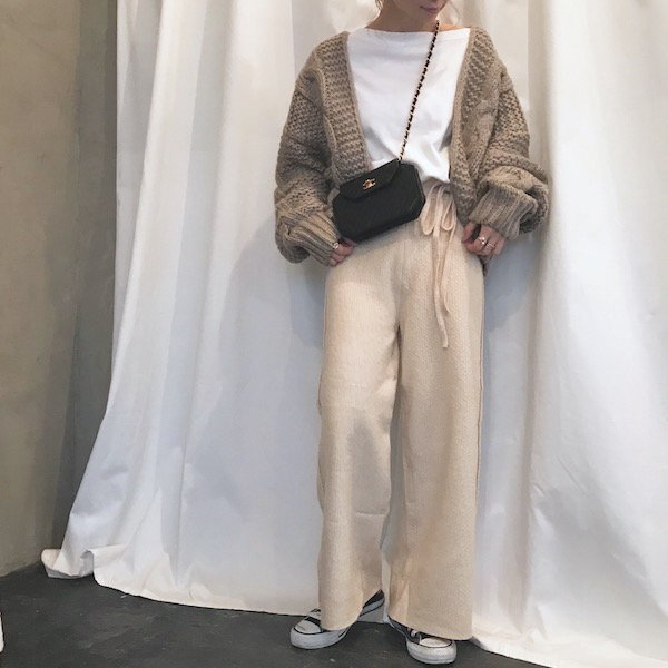 volume cable knit  S/gown
