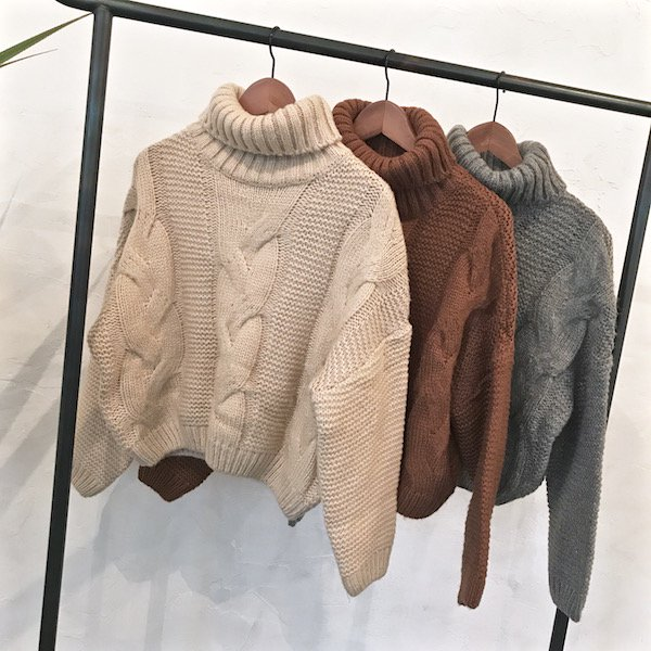 turtle cable rich knit