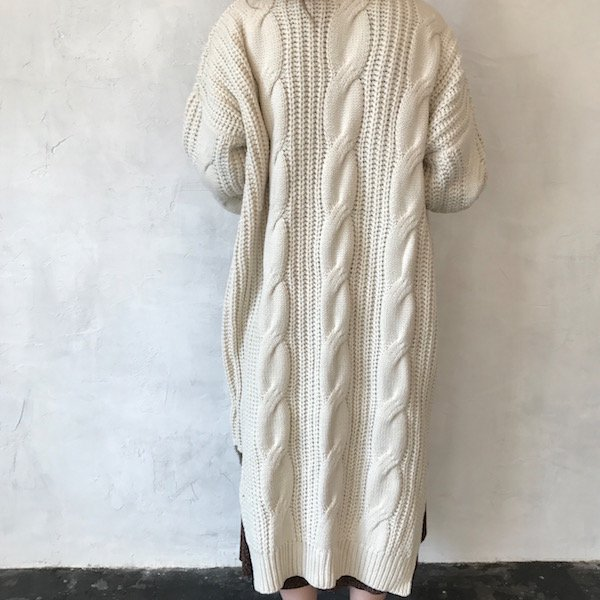 long knit gauge design gown