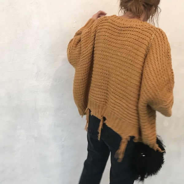 damage over MIX knit