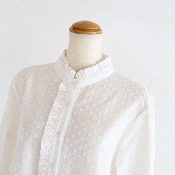 dot embroidery stand color shirt