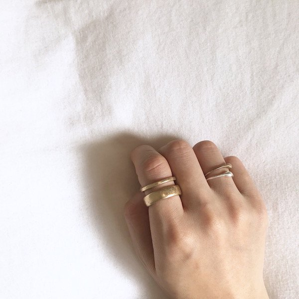 double vintage 2way ring
