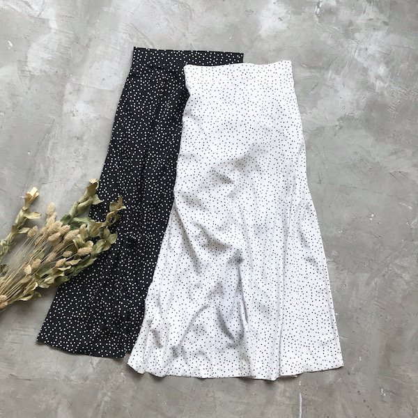 dot thicken long skirt