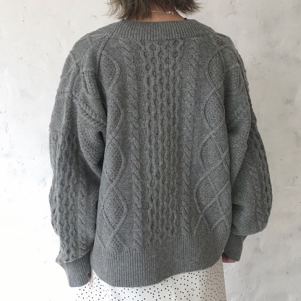 gentle cable knit cardigan