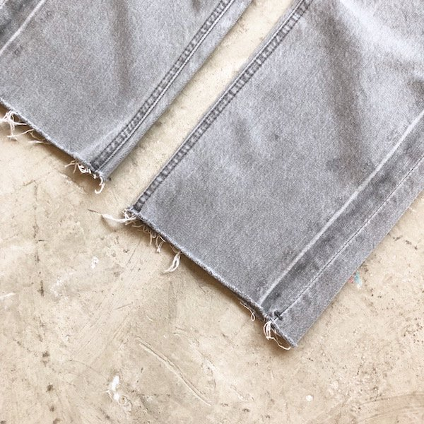 gris sheer denim