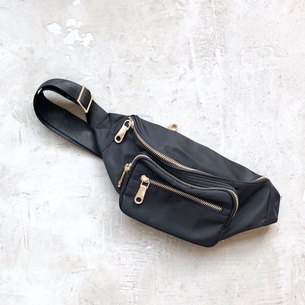 half moon nylon waist BAG