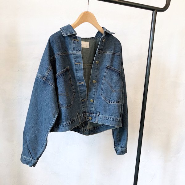 volume hind bouton denim G/jacket