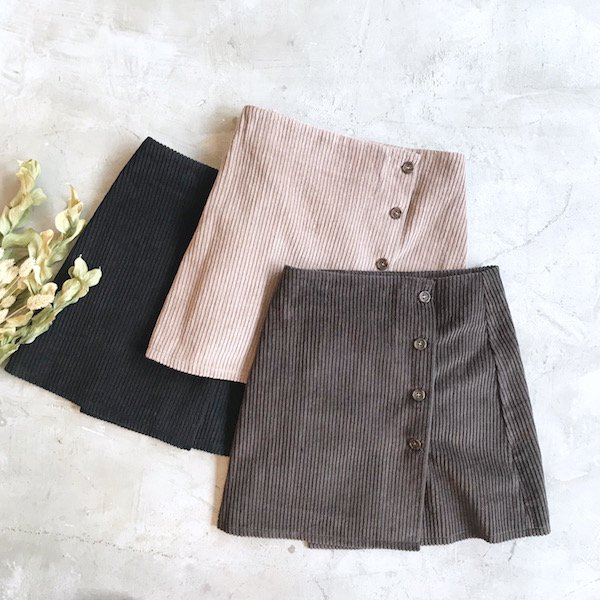 corduroy wrap M/skirt