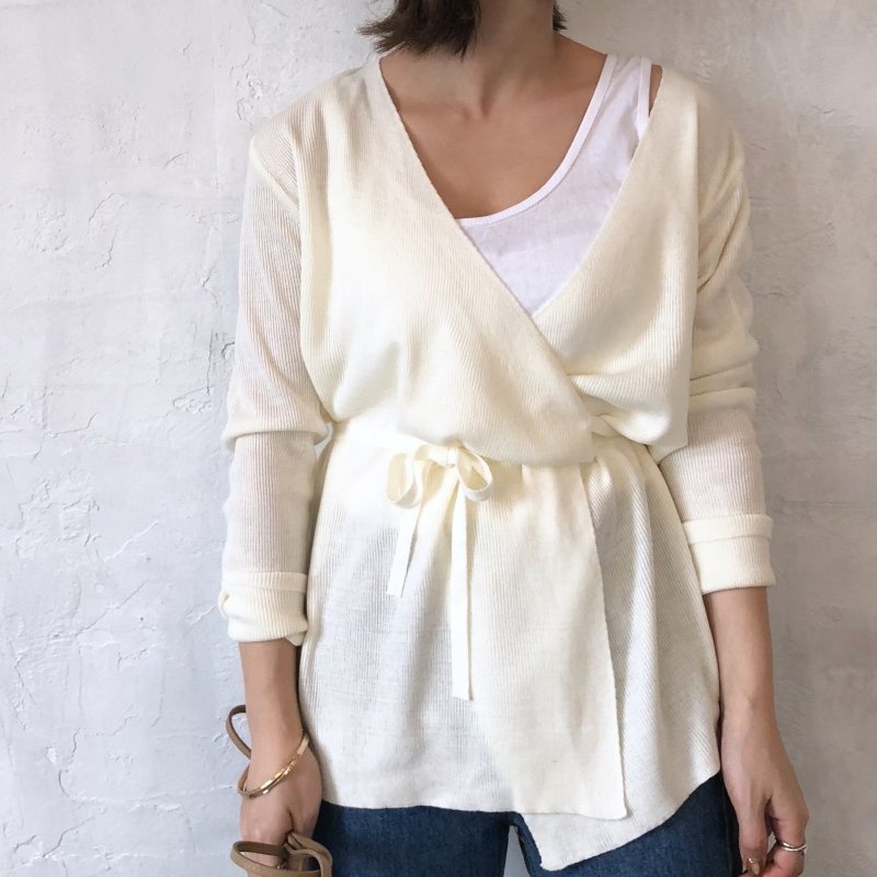 cache-coeur spring knit cardigan