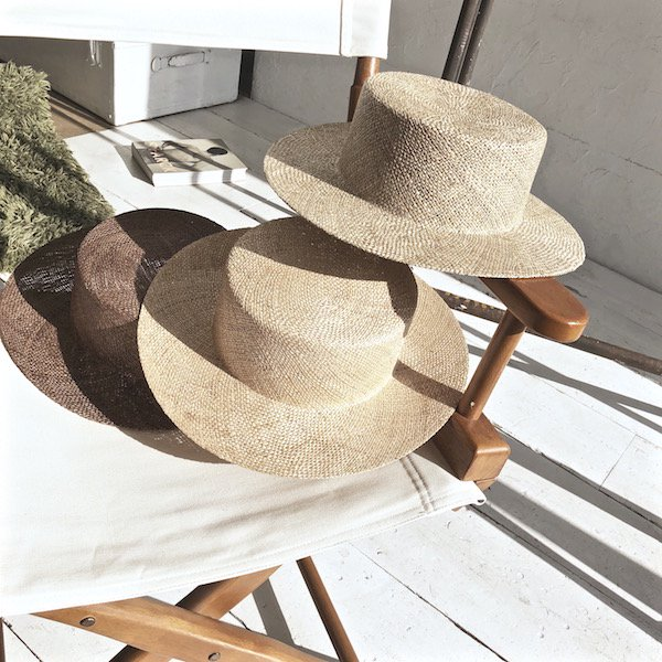 bow natural boater hat