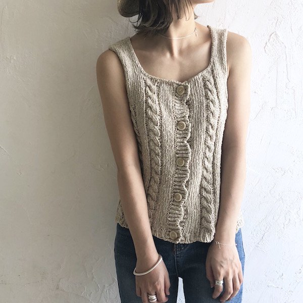 artless cable knit tank