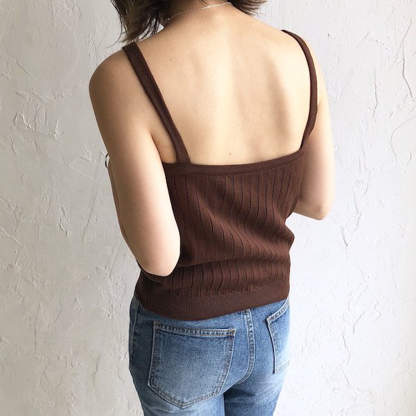 4color wide lib knit camisole