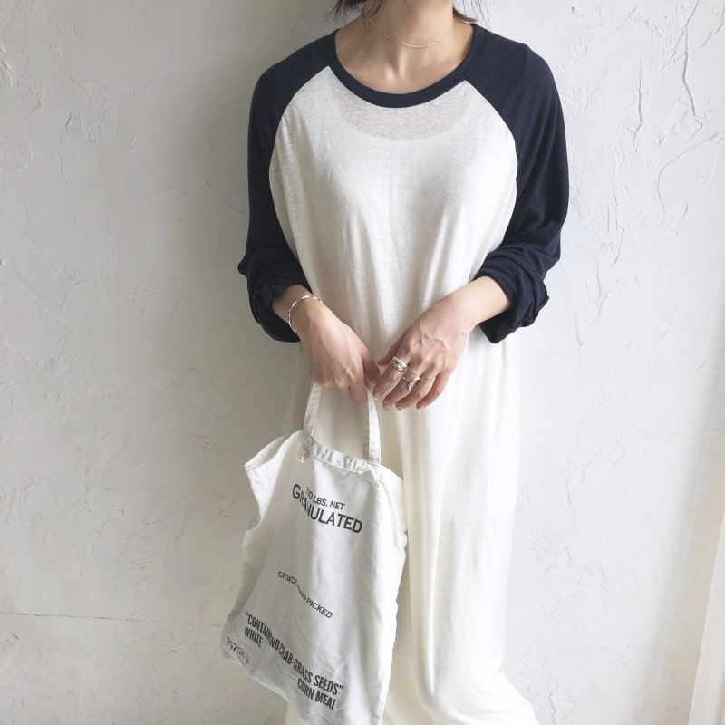 raglan long linen in one-piece