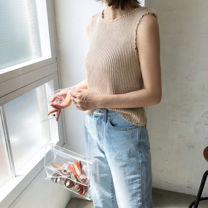 2018 lib cutting knit tank top