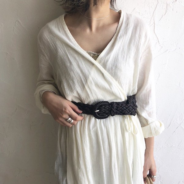 braid contrast belt
