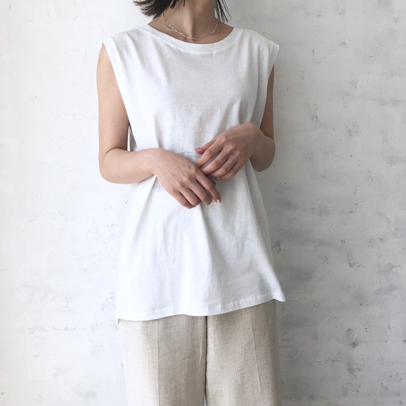 nosleeve wide tank top