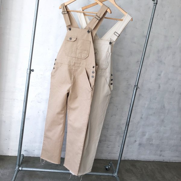 summer cotton hem cut overall