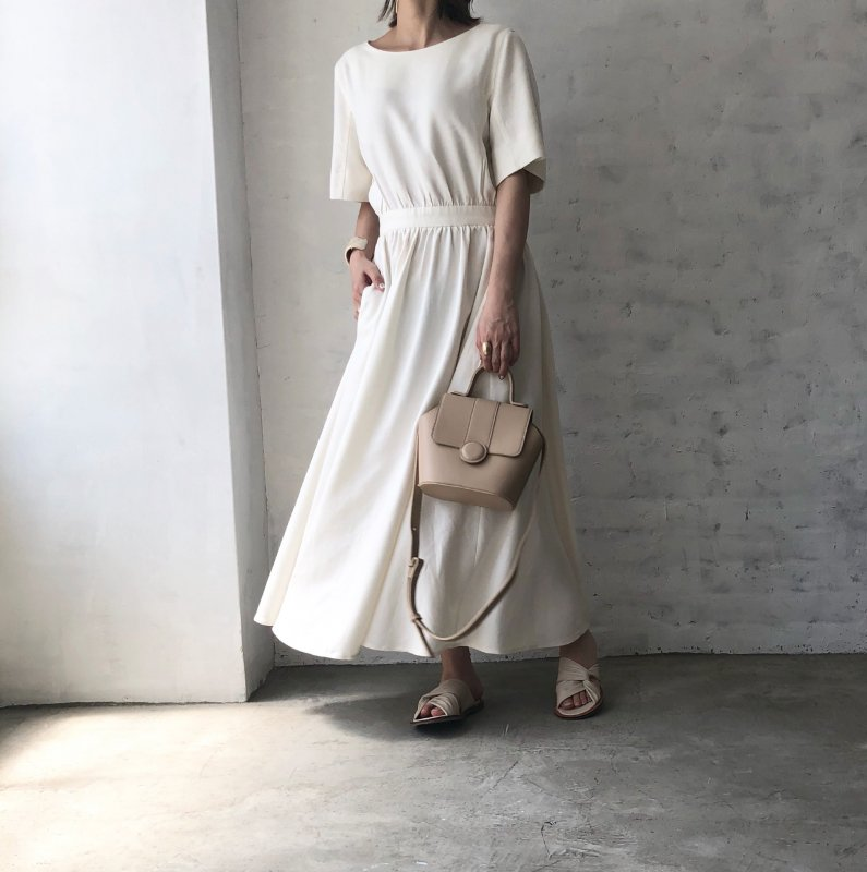 flare linen back healthy one-piece