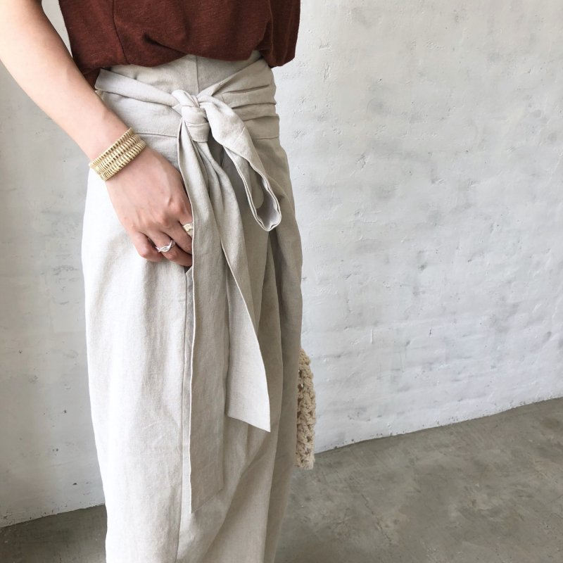 wrap‐around wide pants