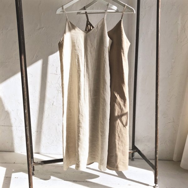 double form linen cami one-piece