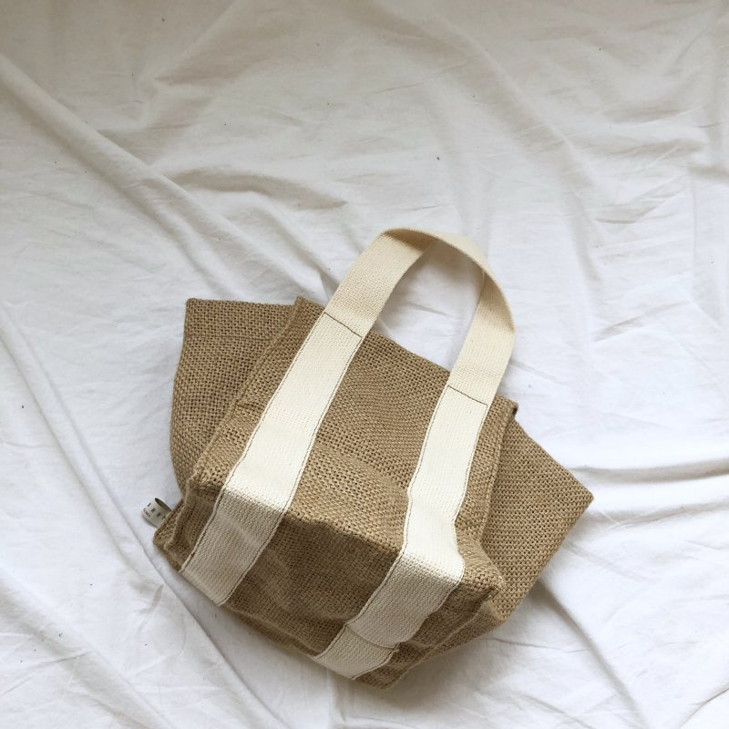 jute tote bi-color BAG