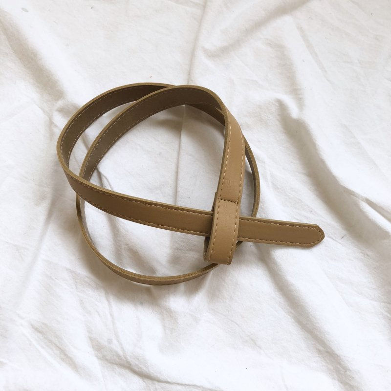 plug in leather 4color belt