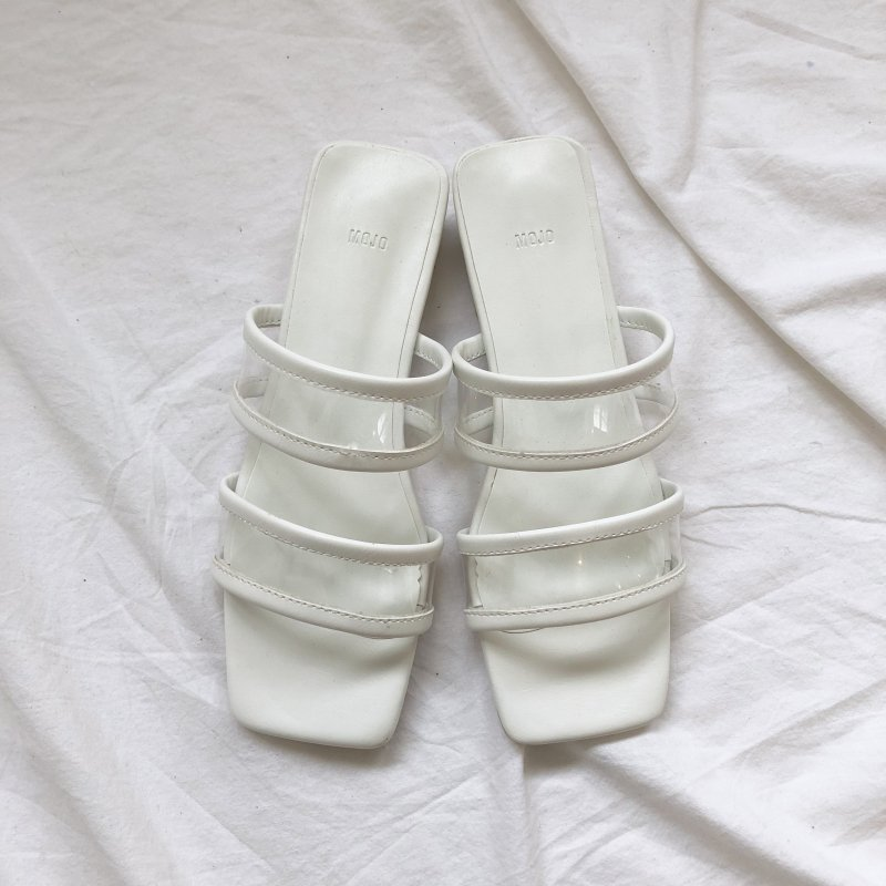 mark sheer clear sandal