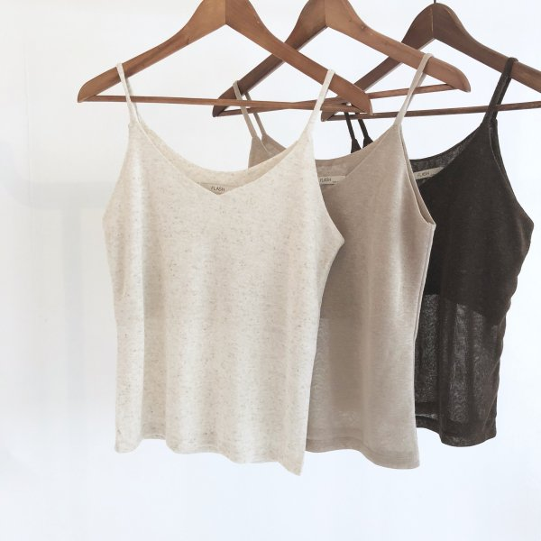 linen knit earth camisole