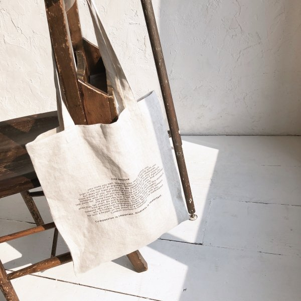 message linen tote BAG