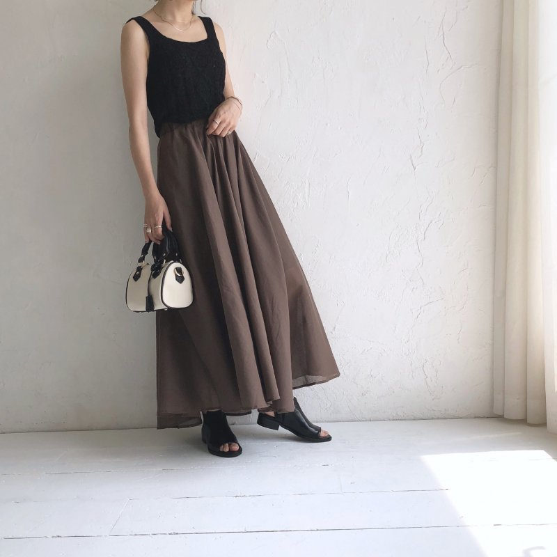 transparent cotton skirt