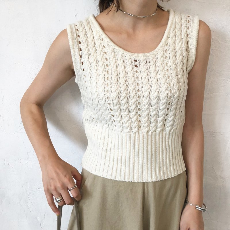 whole cable knit tank