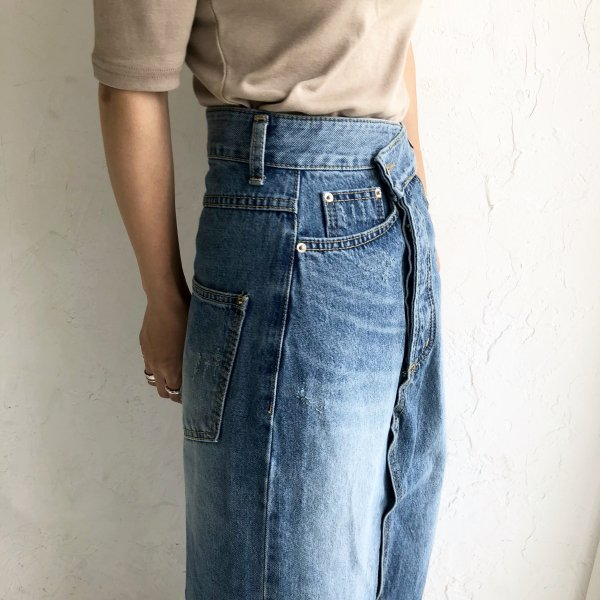 denim deformation L/skirt