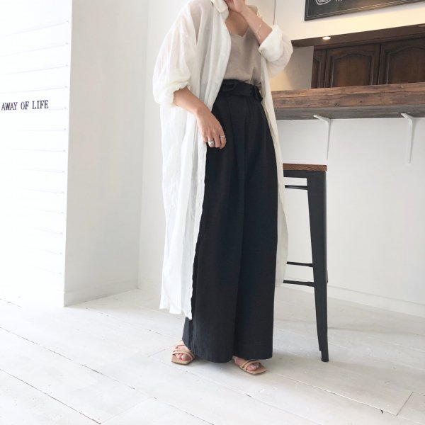 fluffy linen long shirt
