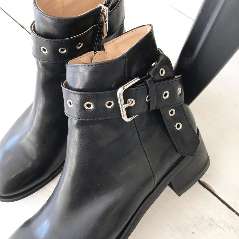 folded in belt boots