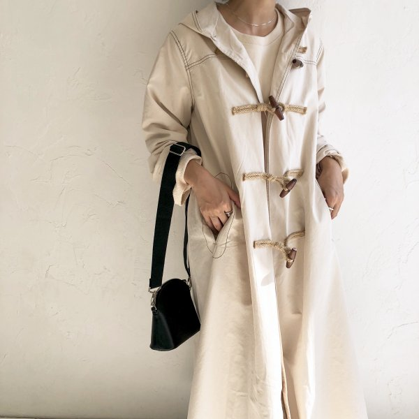 duffle cotton long  coat