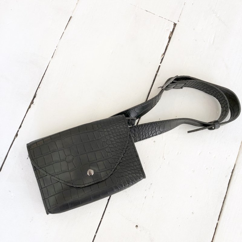 croco 2pattern waist BAG