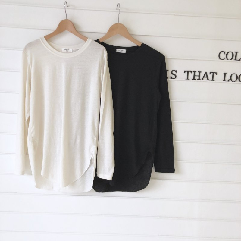 radius side cut long Tshirt